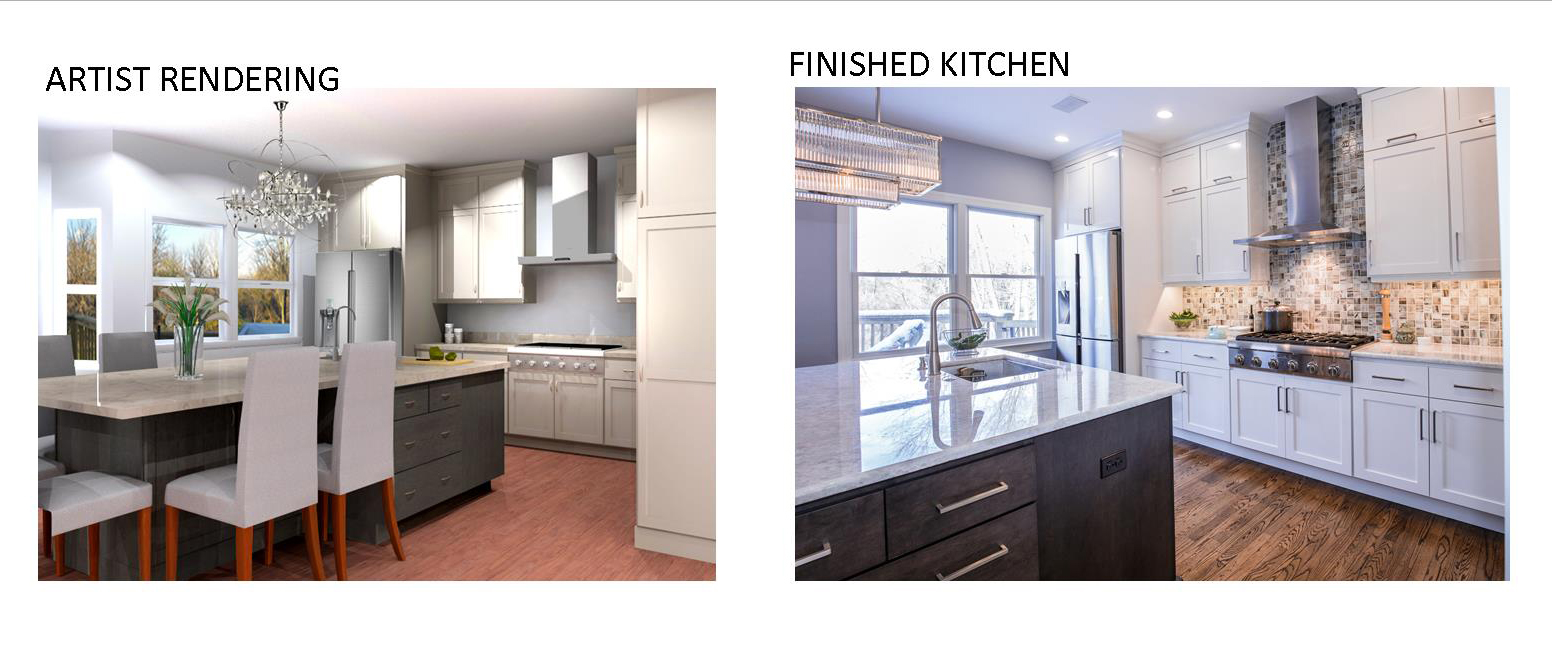Kitchen Design Rendering | Performance Kitchens and Homes