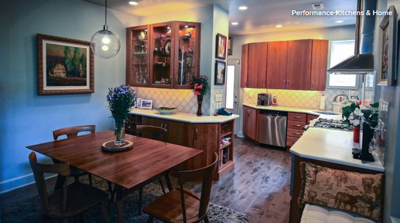 A beautiful kitchen redesign and remodel by Performance Kitchens & Home