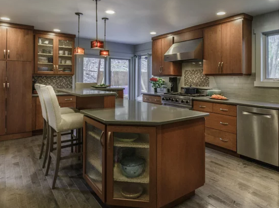 Kitchen Island Designs – Warm & Contemporary