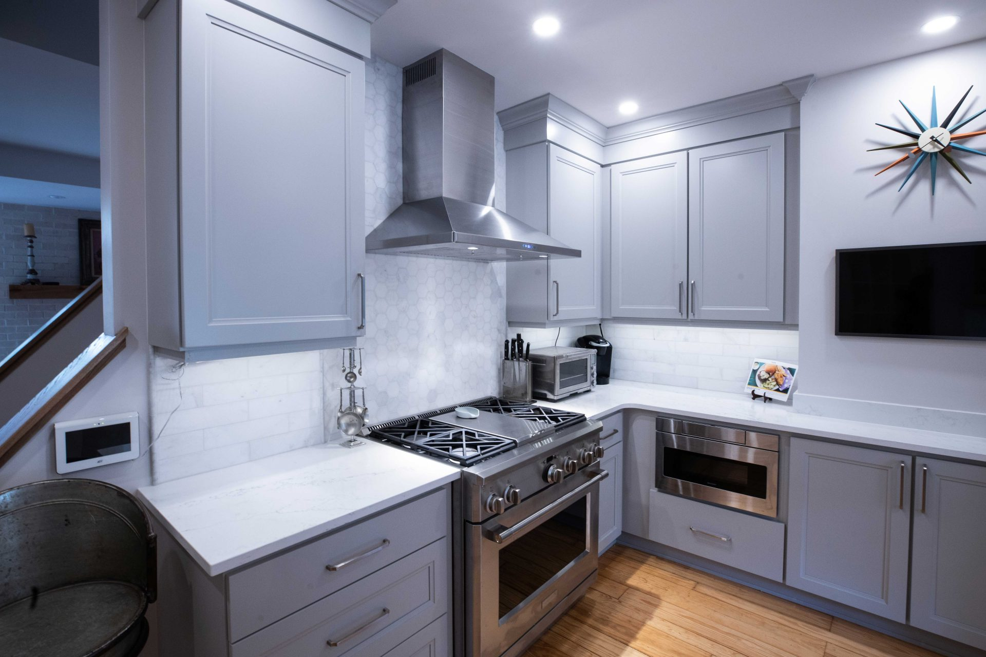 grey kitchen cabinets from Performance Kitchens & Home