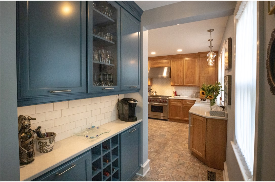 blue kitchen cabinets from performance kitchens & home